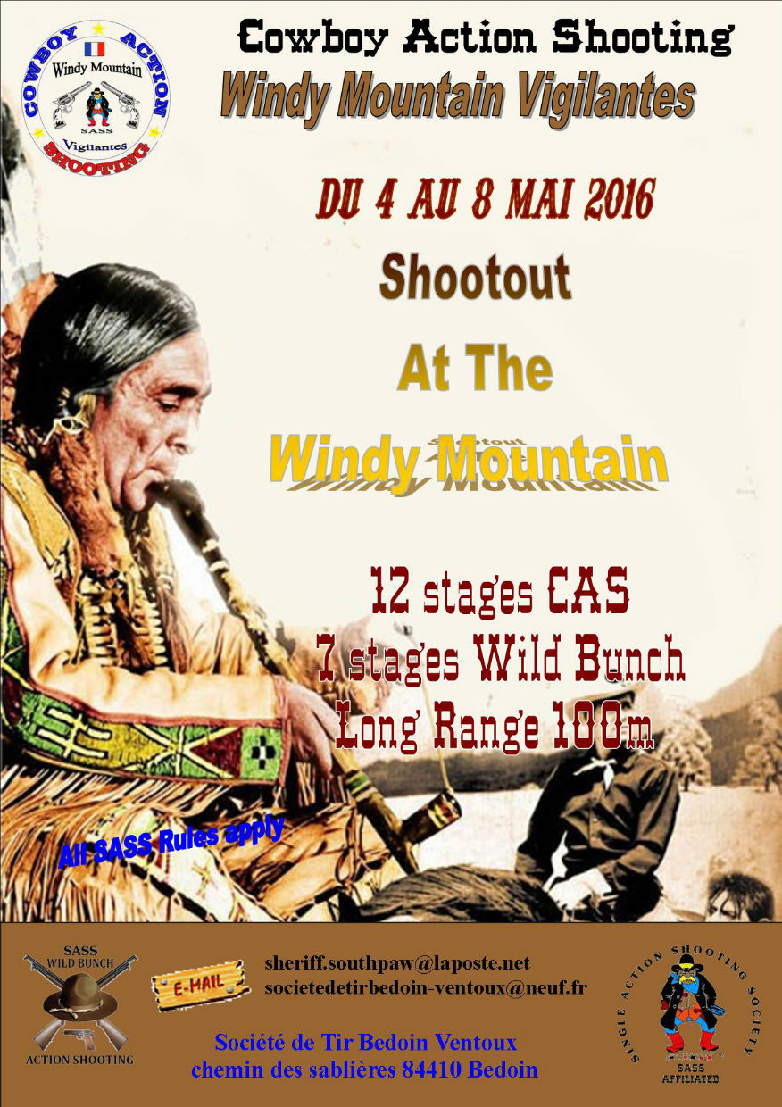 Concours cowboy Action Shooting Bedoin 2016
